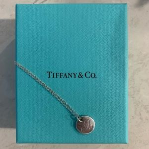 """Tiffany Notes Letter """"A"""" Disc Charm"""